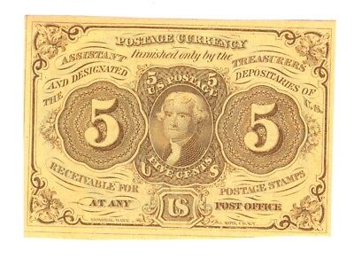 5¢ U.S. FRACTIONAL CURRENCY - 1st ISSUE - CATALOG #1230 - UNCIRCULATED