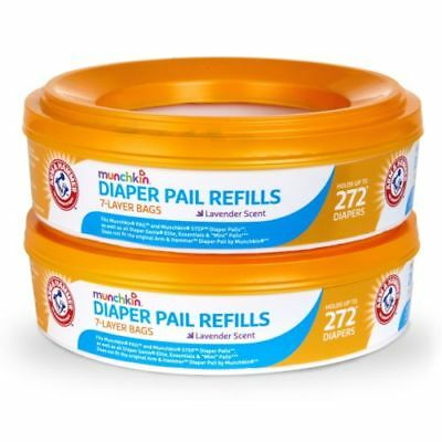 Munchkin Arm and Hammer Diaper Pail Refill Rings 2 rings - 544 Count total NEW