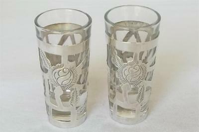 A Superb Pair Of Sterling Silver Mexican Shot Measure Glasses.