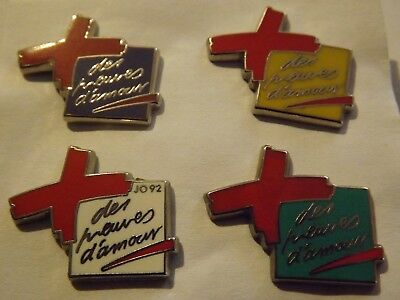 Lot Collection 4 Pins Croix Rouge Arthus B