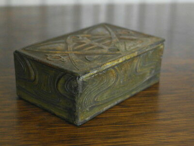 antique pewter ARTS AND CRAFTS BOX celtic design