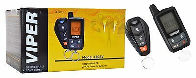 Viper 3305V 2-Way Car Security System Remote Alarm Keyless Entry Responder LCD
