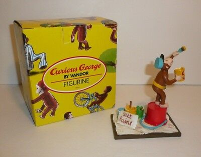 Curious George Wet Paint Painting Figure Figurine by Vandor Takes A Job 1998