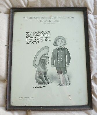 || Antique Buster Brown Advertising Poster Ivan Frank & Co Broadway NY : 013 ||