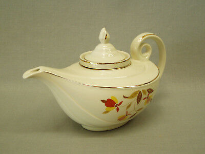 Vintage Hall China Aladdin Teapot w/Lid & Infuser Jewel Tea Autumn Leaf 5 cup