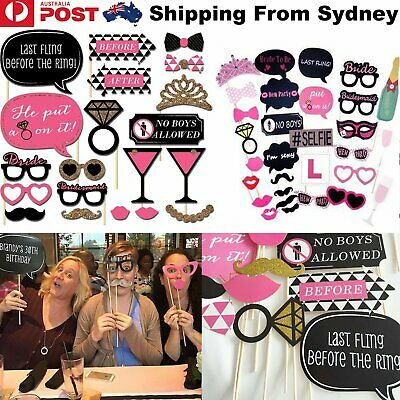30x Hens Night Party Photo Props Booth Game Bride to Be Wedding Selfie Accessory