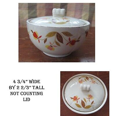 Vintage Hall Autumn Leaf Jewel Tea Small Covered Bowl Condiment Dish