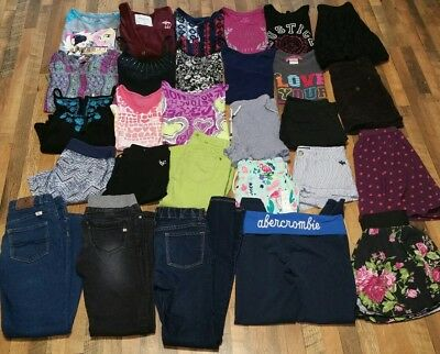 28 pc Girls 10 12 Summer Clothes Lot Justice So Abercrombie tank tops shorts