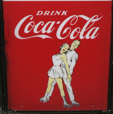 VERY RARE HUGE 1950s Coca Cola Roller Skating Rink Lighted Clock Sign PCL083 yqz