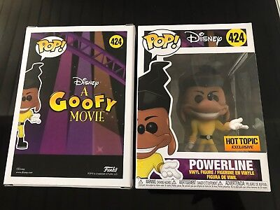Funko Pop Disney Powerline A Goofy Movie Hot Topic Exclusive #424 Fast Shipping!