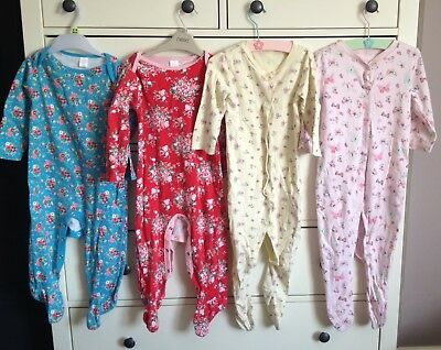 Girls Mini Club And Mothercare 12-18 Month Sleepsuits