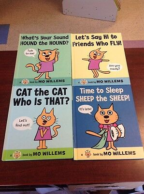Lot of 4 MO WILLEMS books ALL HC Cat Sound Hound Sleep Sheep Friends Who Fly 1st