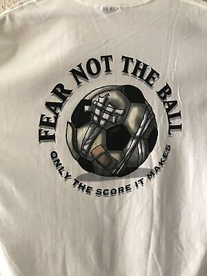 Vintage 1990's NO FEAR T-Shirt Men's X-Large Soccer Fear Not the Ball New W/tag