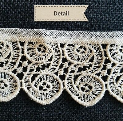 Antique Vtg Sewing Lace Trim Remnant Edging 2 14 Doll Clothes Sew