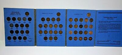 1920 - 1971 Canada Small 1 Cent Collection Missing 1922 1923 1925 54 Coins