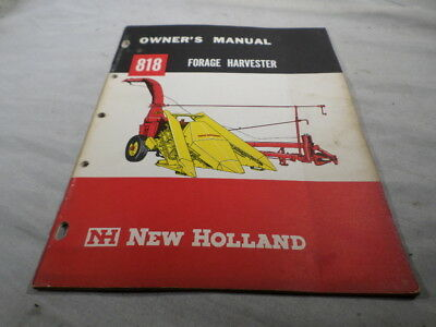 New Holland Owner's Manual 818 Forage Harvester