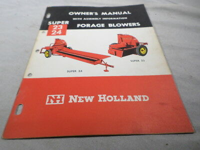 New Holland Owner's Manual Super 23 24 Forage Blowers