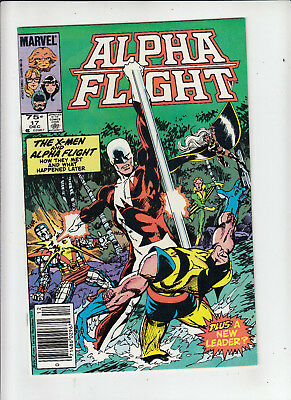 Alpha Flight #17 75 Cent Canadian Newsstand Price Variant NM