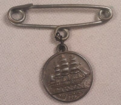 1905 Victory Copper Medal with Pin B.F.S.S. Nelson Centenary E.D. VII