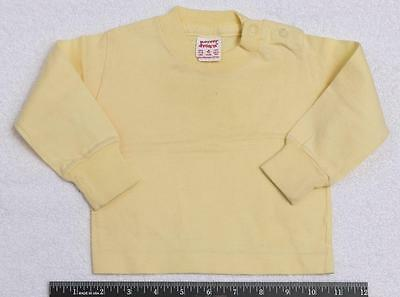 Vintage Light Yellow Buster Brown Baby Shirt 0-6 Months jds