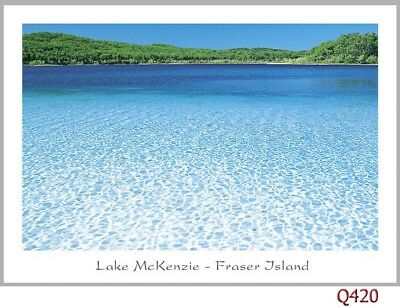 10 postcards of Fraser Island Australia, Lake McKenzie, Indian Head, Eli Creek