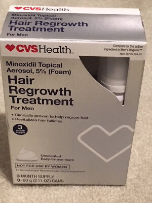 Easy-to-Use Hair Regrowth Foam Treatment for Men Unscented, 6 OZ, 5% Minoxidil