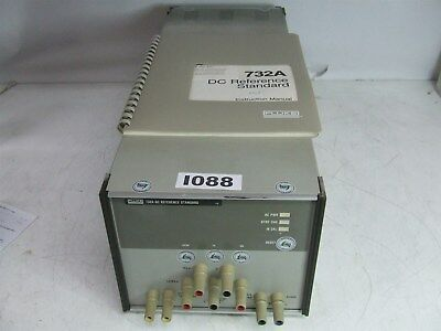 Fluke 732A VOLTAGE DC Reference STANDARD with manual *Tested*