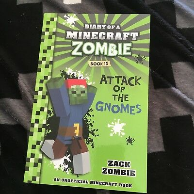New, Zack Zombie. Diary Of A Minecraft Zombie. Book 15. Attack Of The Gnomes