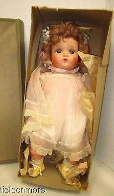 1930s MADAM ALEXANDER LITTLE GENIUS CHARACTER COMPOSITION DOLL TAGGED DRESS