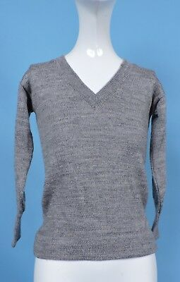 Old Stock Never Worn 1920'S Gray Wool Child'S Sweater Size 26