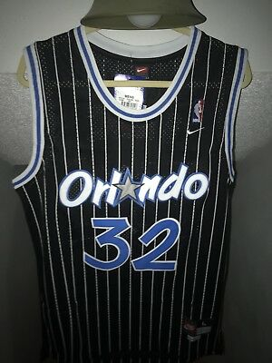NWT Shaquille O Neal Shaq  32 Orlando Magic Throwback Basketball Jersey  Stitched 60af62f3a