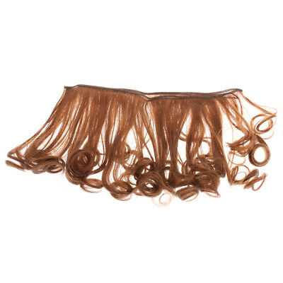 MagiDeal 15cm Coffee 30 Long Rinka DIY Wigs Curly Hairpiece for Girl Dolls
