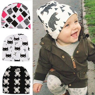 Cute Toddler Kids Boy Girl Infant Cotton Soft Warm Cap Hat Beanie 1-4 Year Baby
