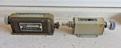 (2) VINTAGE CHROME VEEDER-ROOT, ROTATION COUNTERS METER 6 & 5 digits