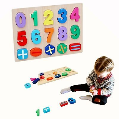 3D Number Wooden Alphabet Puzzle Jigsaw Board Educational Learning Toys Kids