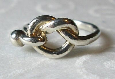 Sterling Silver Love Knot Promise Ring Size 4
