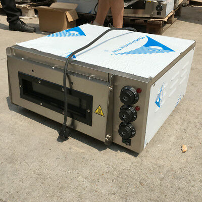 2000W Pizza Oven single Deck Thermostat timer Fire Stone CateringHigh Quality CE