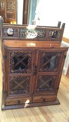 Antique Chinese Wedding Chest/Wine Cabinet