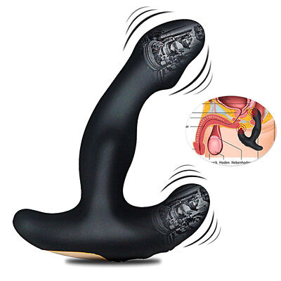 Bendable Vibrating Prostate Massager, Dual Motor USB Rechargeable Silicon Health