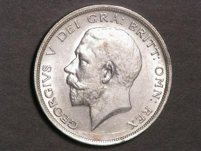 GREAT BRITAIN 1915 1/2 Crown George V Silver AU-UNC