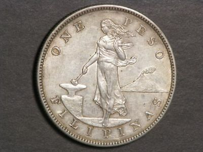 PHILIPPINES 1903S 1 Peso Silver Crown XF