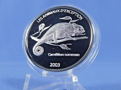 Kongo 10 Francs 2003 , Cameleon commun  , Silber *PP/Proof* (10549 )