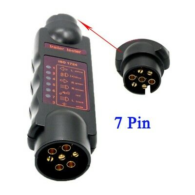 7 Pin Car Trailer Caravan Tester Towing Lights Cable Wiring Circuit Plug Socket
