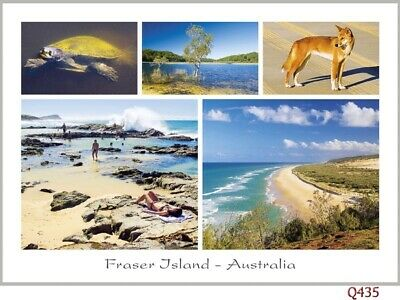 Fraser Island Australia, 28 postcards, Lake McKenzie, Dingo, Indian Head, Eli Cr