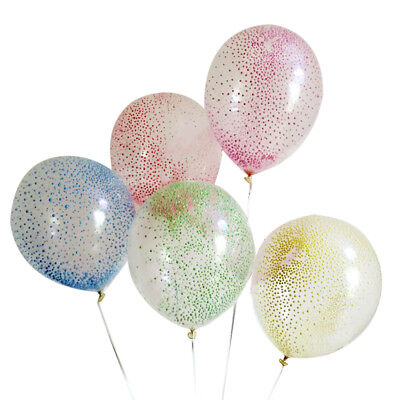 5Pcs Foam Confetti Filled Latex Balloons Party Wedding Birthday Decoration Gifts
