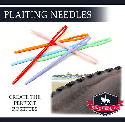 5 Plastic Plaiting Needles for perfect Rosettes Sewing Show Prep browband bridle