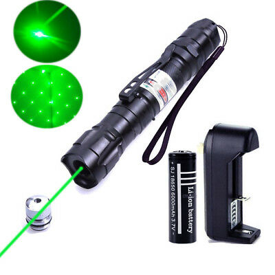 Military 1mw Green Laser Pointer Pen Lamp 532nm Beam With 18650 battery charger