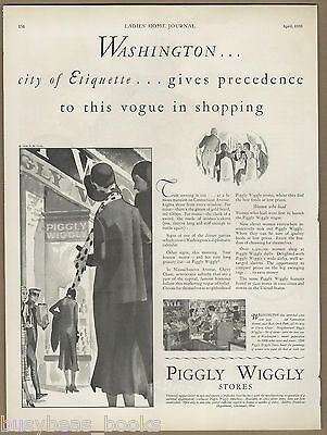 1930 PIGGLY WIGGLY Stores advertisement, Washington DC grocery store, large ad