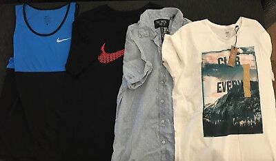 mens shirt Cotton On and tee target, Nike Singlet and tee size M and L