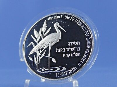 Israel 2 New Sheqalim 1998 , Storch  ,Silber *PP/Proof* (10611)